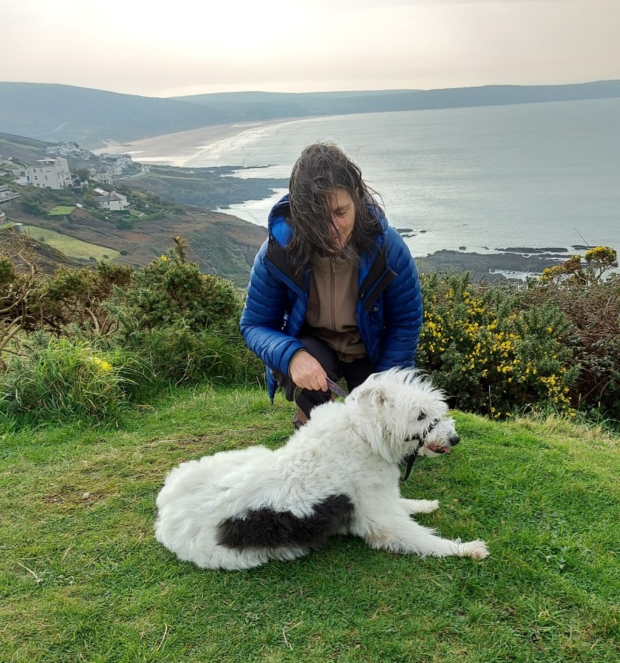 Lorraine Ditchburn and Amy dog